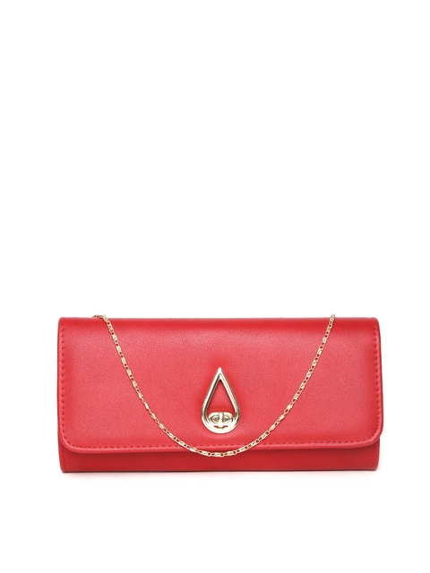 Mast & Harbour Red Clutch with Chain Strap