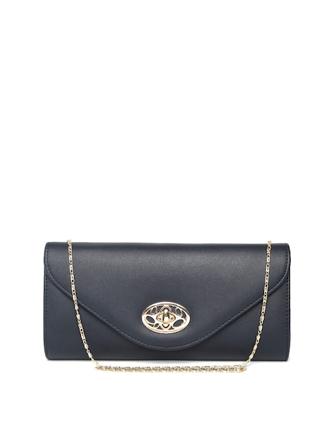 Mast & Harbour Navy Clutch with Chain Strap