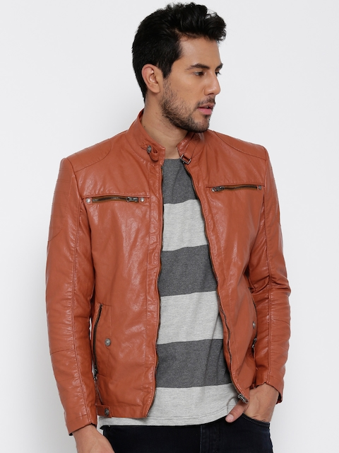 Fort Collins Rust Orange Faux Leather Jacket