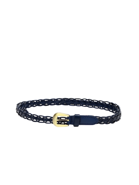 Mast & Harbour Women Blue Braided Belt