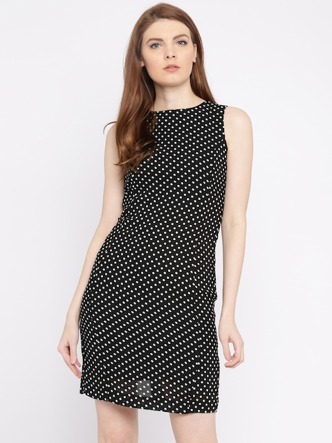 Van Heusen Woman Black & White Printed Sheath Dress