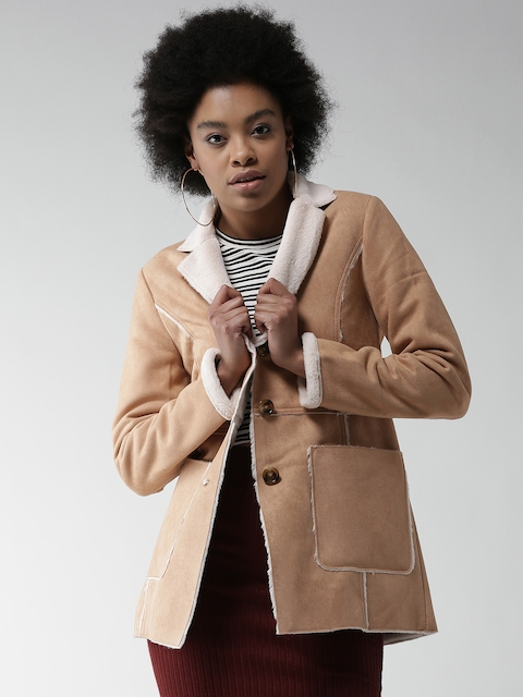 FOREVER 21 Beige Single-Breasted Coat