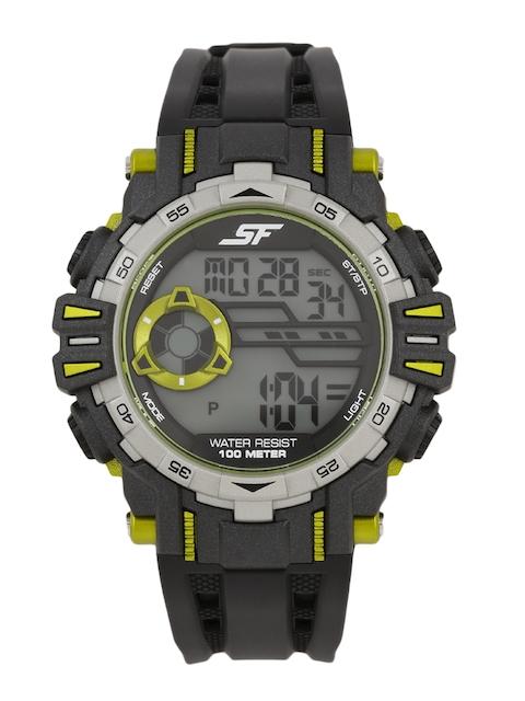 Sonata Men Black Extreme Gear Digital Watch 77069PP02J