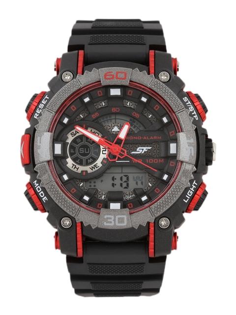 Sonata Men Black Digital Watch 77070PP01J