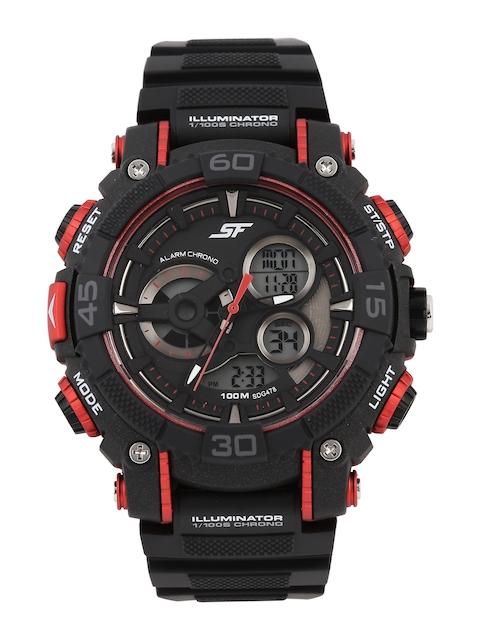 Sonata Men Black Digital Chronograph Watch 77070PP03J