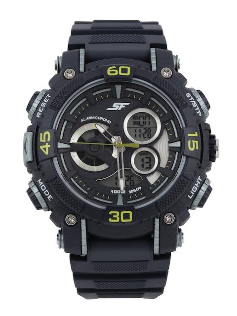 Sonata Men Black Digital Chronograph Watch 77070PP04J