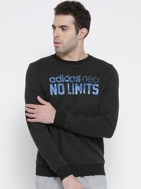 Adidas NEO Charcoal Grey LF Logo Print Sweatshirt