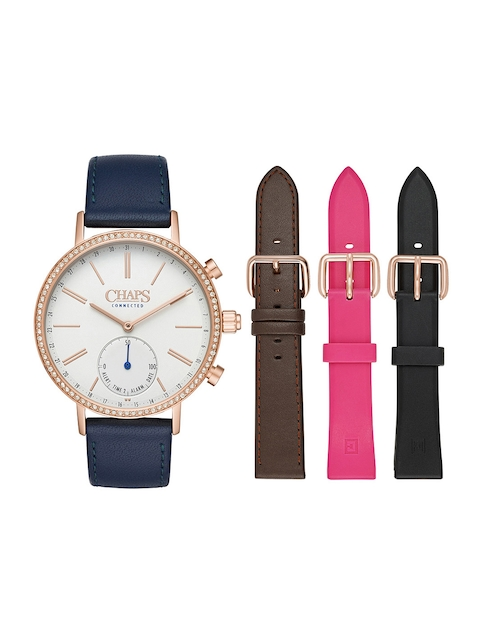 CHAPS Women White Embellished Hybrid Smartwatch CHPT3105