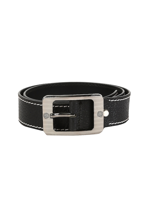 WildHorn Men Black Leather Belt