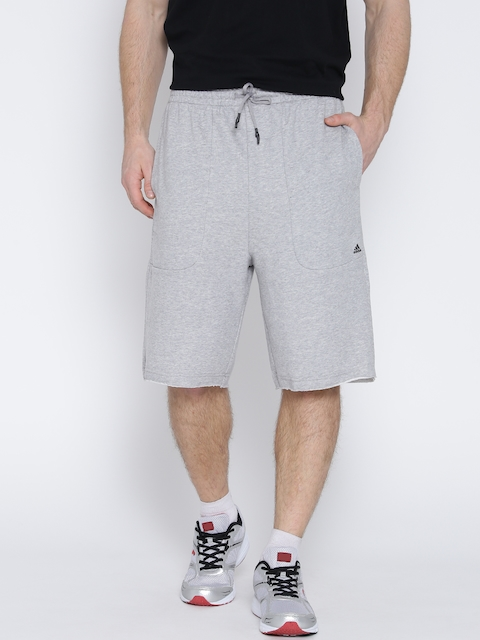 Adidas Men Grey Melange Solid HVY TRRY Shorts  available at myntra for Rs.759
