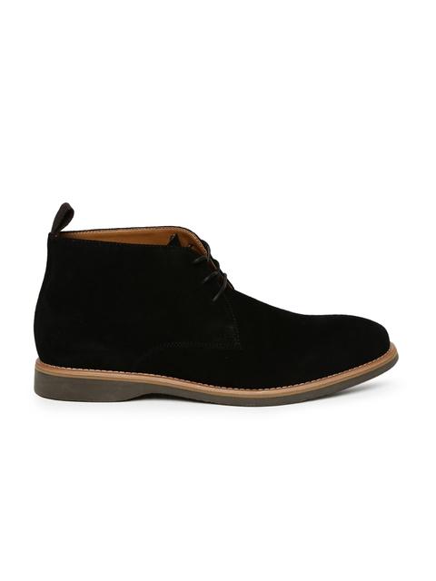 ALDO Men Black ALAESSI Suede Mid-Top Desert Boots