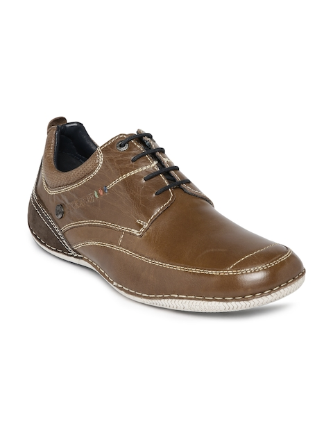 Buckaroo Men Tan Brown Leather Casual Shoes