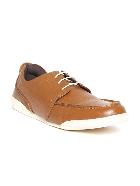 Red Tape Men Tan Brown Solid Leather Derbys