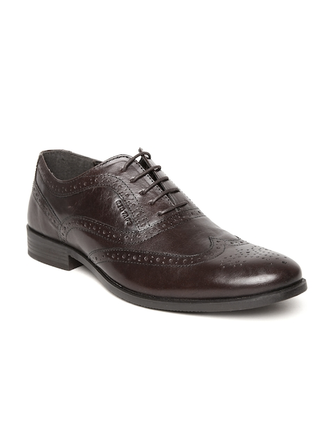 Red Tape Men Coffee Brown Leather Brogues