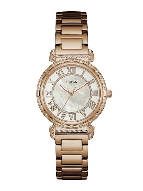 GUESS Women White Dial Watch W0831L2