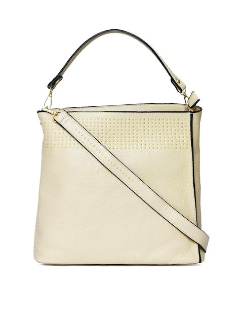DressBerry Beige Shoulder Bag with Metallic Studs