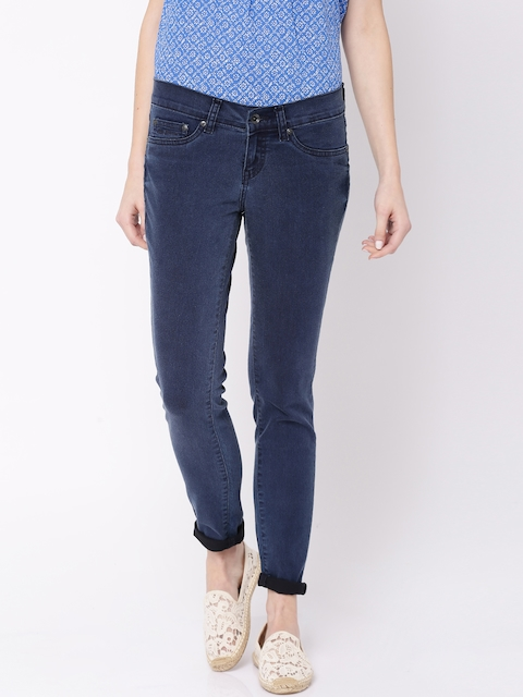 Pepe Jeans Blue Low-Rise Jeggings