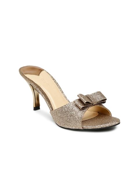 Catwalk Women Bronze-Toned Shimmery Slim Heels