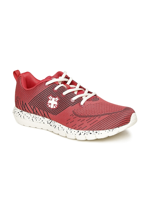 Lee Cooper Men Red Patterned Sports Shoes