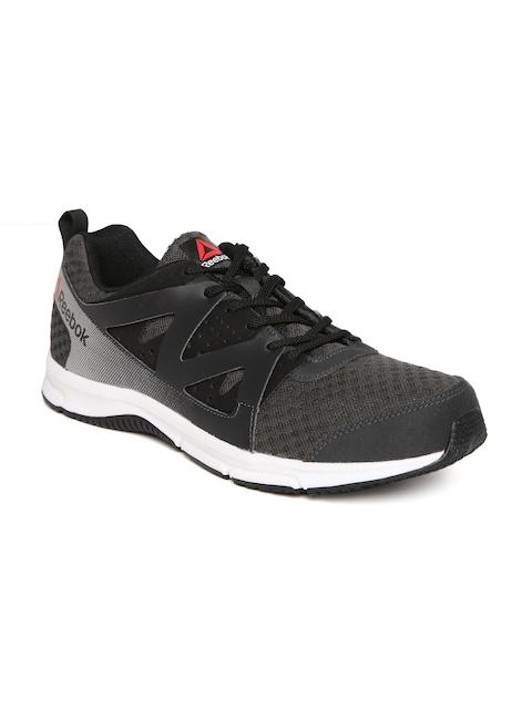 Reebok Men Charcoal Grey & Black Supreme Running Shoes