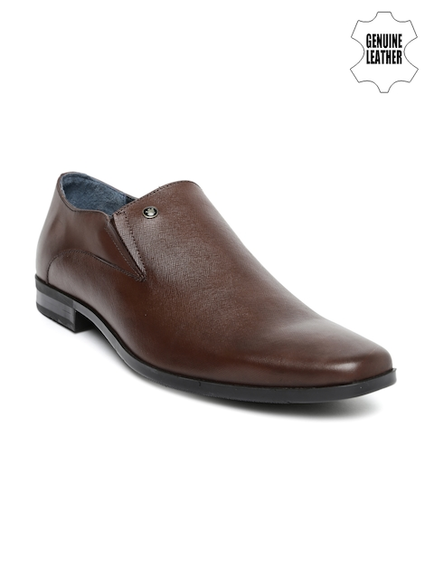 Louis Philippe Men Brown Genuine Leather Derby Formal Shoes