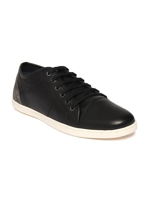 Louis Philippe Men Black Sneakers