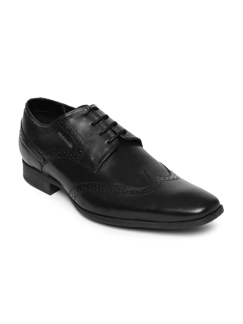 Provogue Men Black Leather Brogues