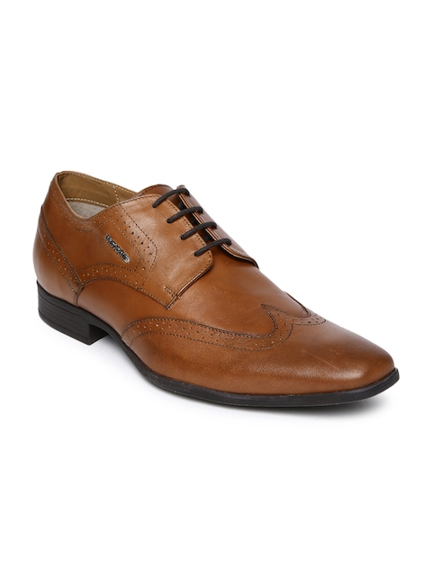 Provogue Men Tan Brown Leather Brogues