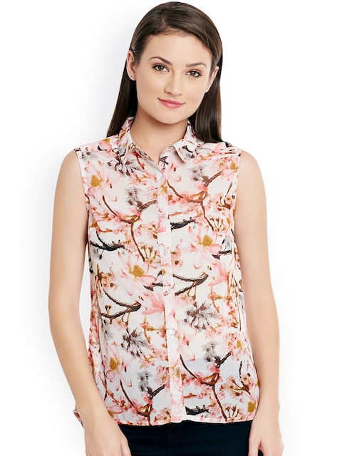 Ruhaans Women Multicoloured Regular Fit Printed Casual Shirt  available at myntra for Rs.299