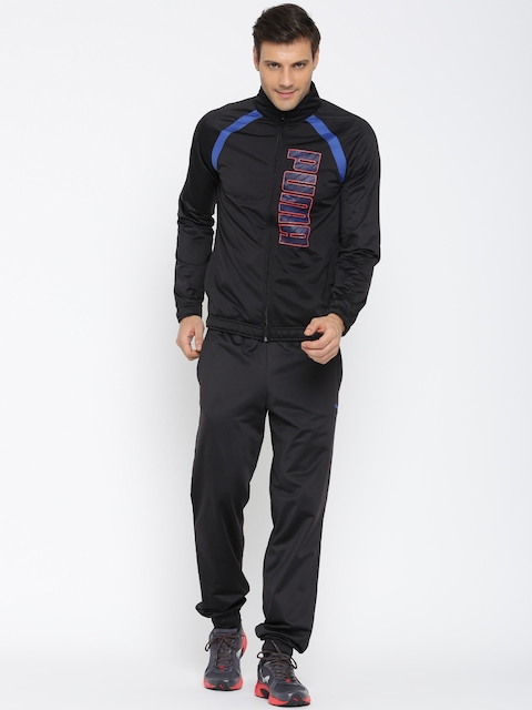 Puma Black ITS Ploysuit Printed Tracksuit