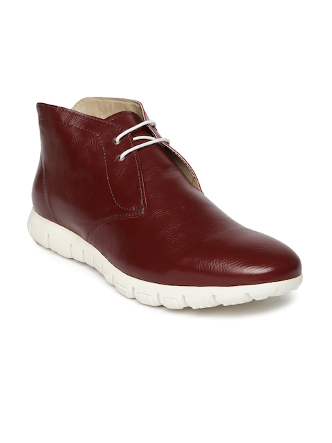 Knotty Derby Men Burgundy Mid-Top Cresswell Chukka Boots  available at myntra for Rs.695