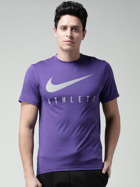 Nike Men Purple AS Touch Plus GFX Printed Round Neck T-shirt