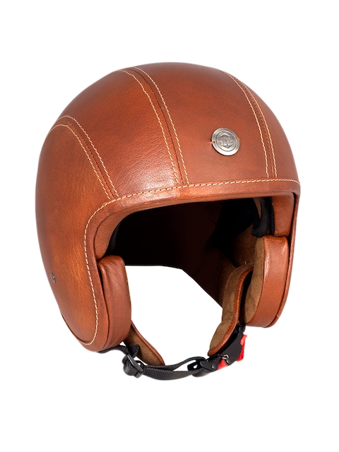 Royal Enfield Brown Leather Open Face Helmet
