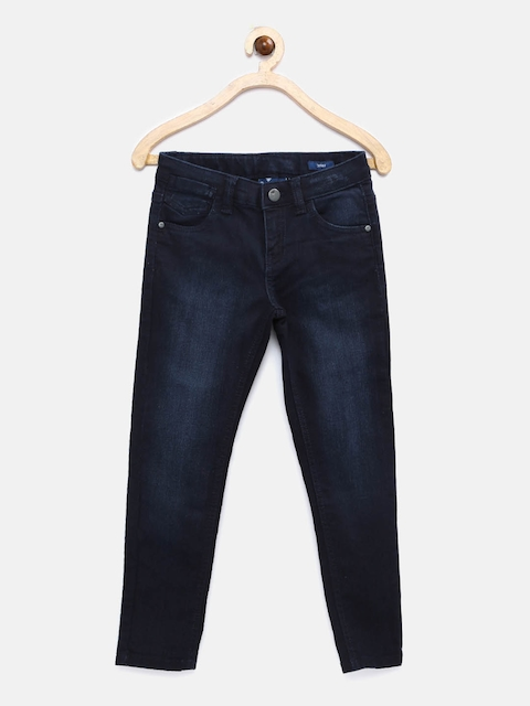 Fame Forever by Lifestyle Girls Navy Skinny Fit Mid Rise Clean Look Jeans  available at myntra for Rs.479