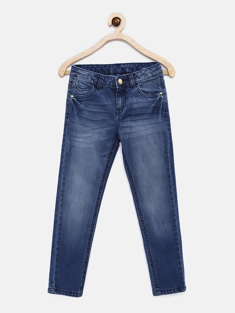 Fame Forever by Lifestyle Girls Blue Skinny Fit Mid Rise Clean Look Jeans  available at myntra for Rs.479