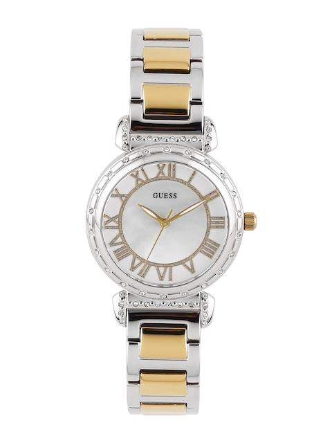 GUESS Women Cream-Coloured Dial Watch W0831L3