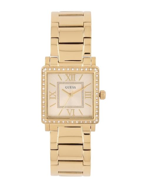 GUESS Women Gold-Toned Dial Watch W0827L2