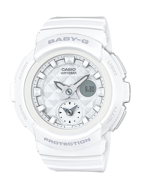 Casio Baby-G BGA-195-7ADR (BX076) Analog Digital White Dial Women's Watch (BGA-195-7ADR (BX076))