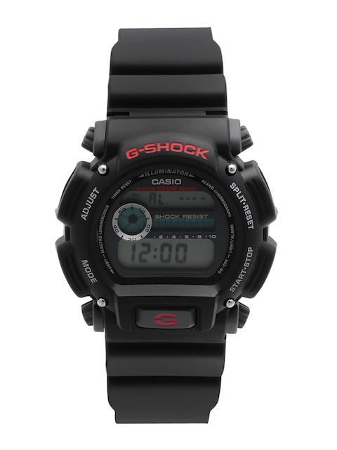 CASIO G-Shock Men Gold-Toned & Black Multifunction Digital Watch G091