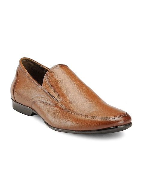 Teakwood Leathers Men Tan Brown Leather Formal Shoes