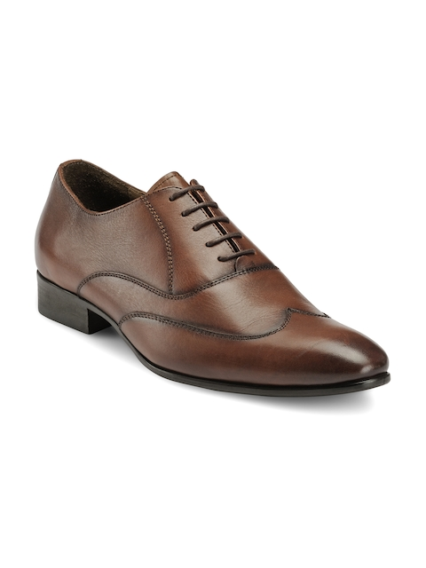 Teakwood Leathers Men Brown Leather Formal Shoes
