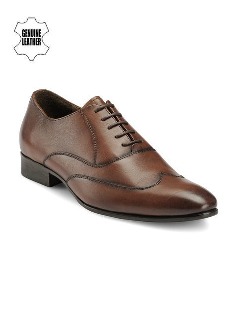 Teakwood Leathers Men Brown Leather Formal Shoes