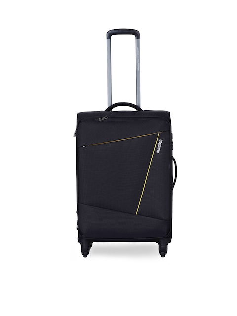 AMERICAN TOURISTER	Unisex Black Medium Trolley Suitcase