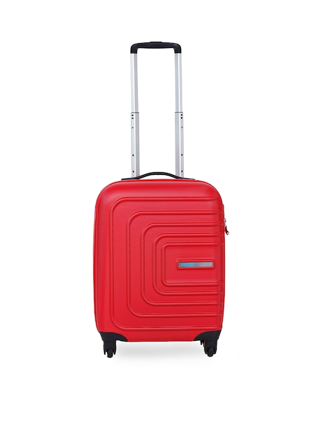 AMERICAN TOURISTER  Unisex Red Small Trolley Suitcase