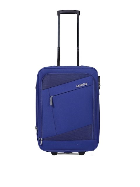 AMERICAN TOURISTER Unisex Blue Trolley Bag