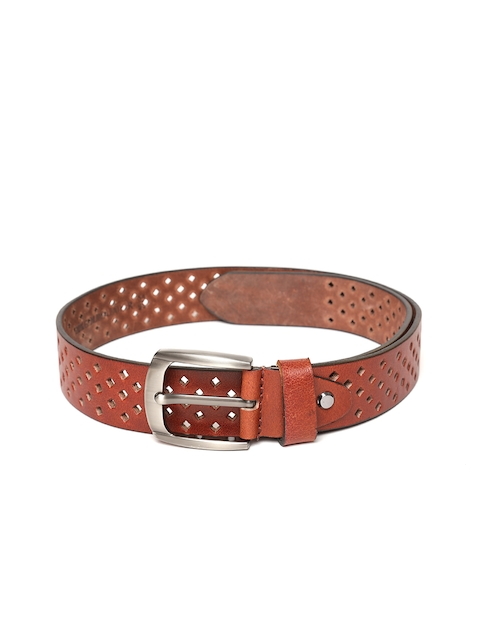 Roadster Men Brown Cut-Out Leather Belt