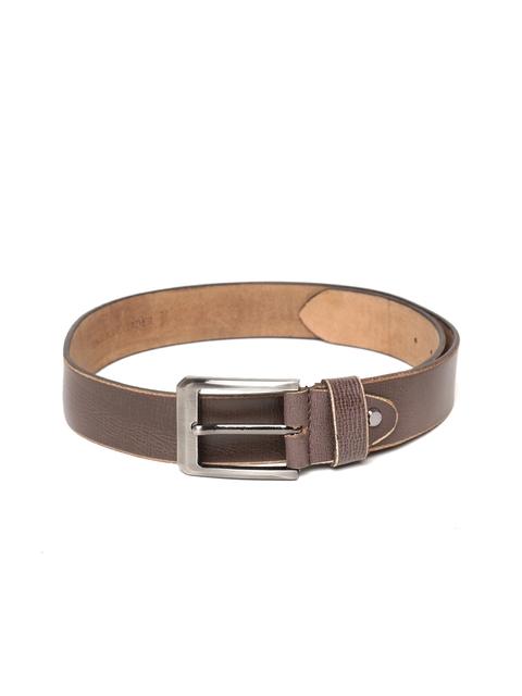 Roadster Men Coffee Brown Leather Belt
