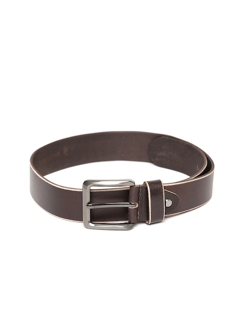 Roadster Men Coffee Brown Leather Belt