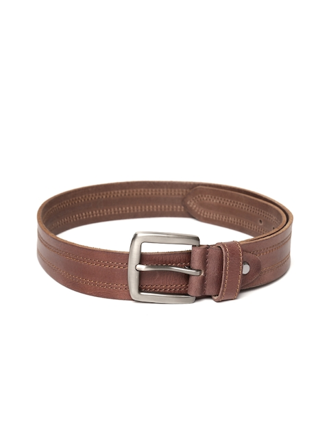 Roadster Men Brown Leather Belt