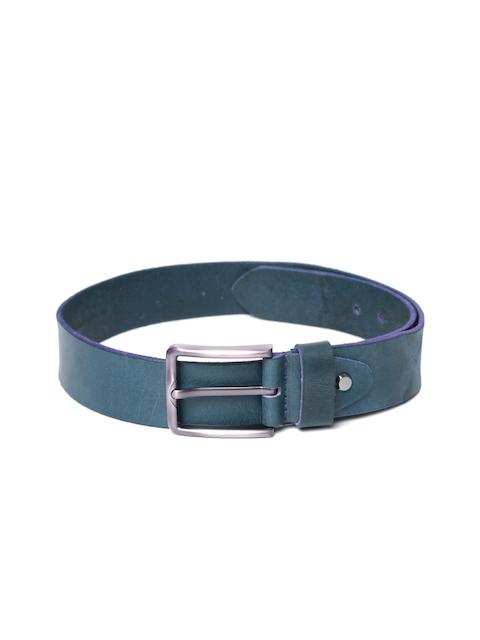 Roadster Men Teal Blue Handmade Vintage Leather Belt